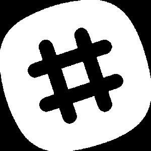 Logo Slack - Blanc