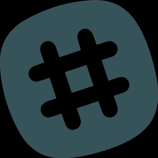 Logo Slack - Bleu
